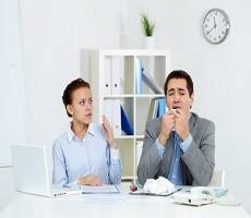 Majority of workers would prefer sick colleagues to stay home