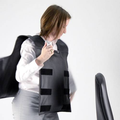 The most unusual product at the Neocon office furniture show? The bulletproof chair