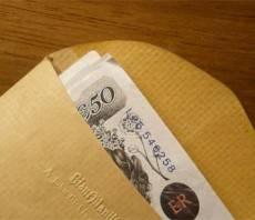 Bribe brown envelope