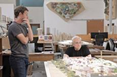 Mark Zuckerberg and Frank Gehry ponder the new Facebook campus