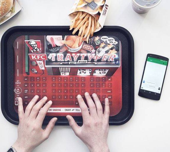 KFC Germany introduces keyboard paper tray (for a while)