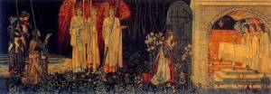 The Attainment of the Grail, tapestry by William Morris