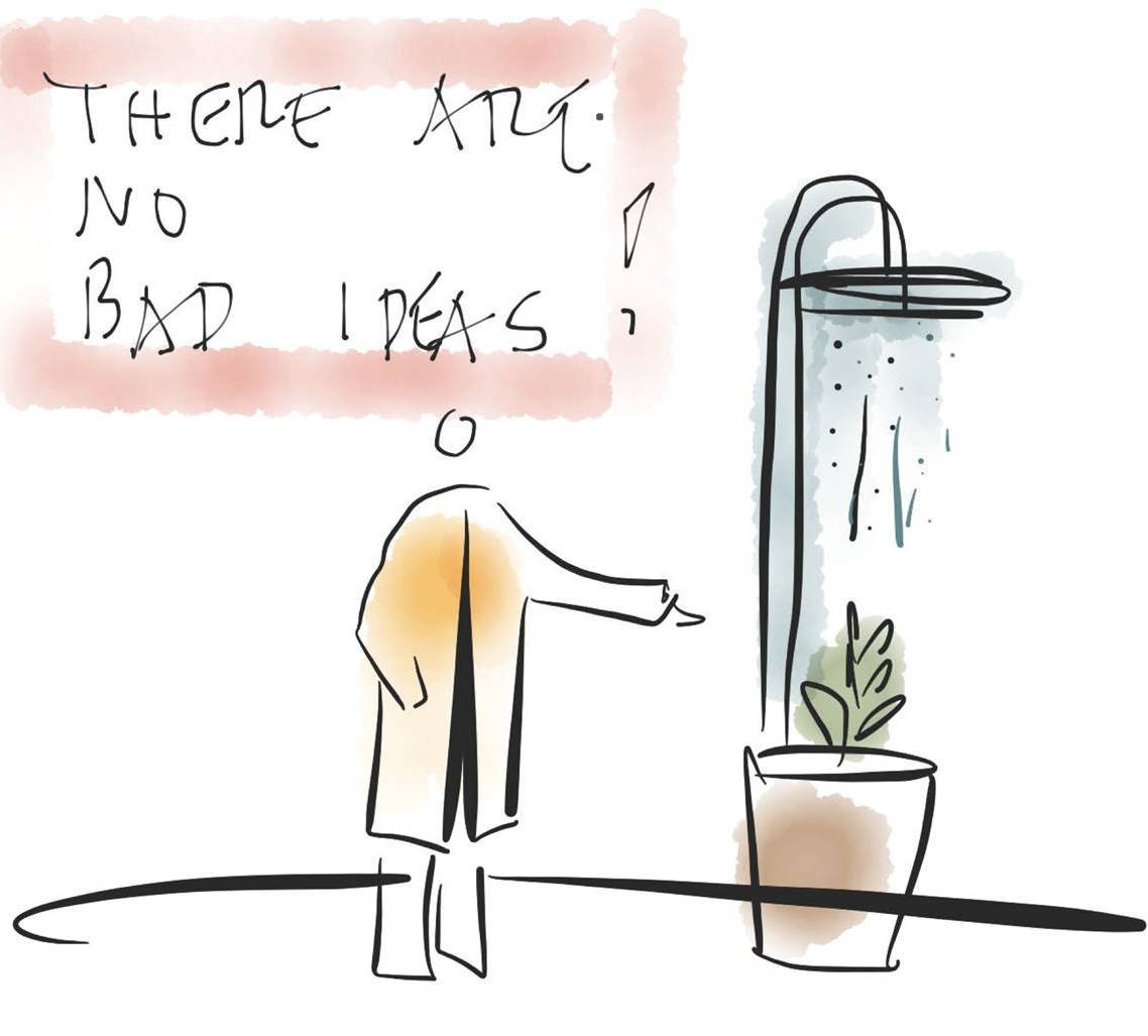 The Genesis of ideation and the places we go to have our best ideas