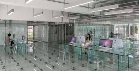 What happens when you take transparent office design to extremes