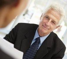 Older jobseeker interview