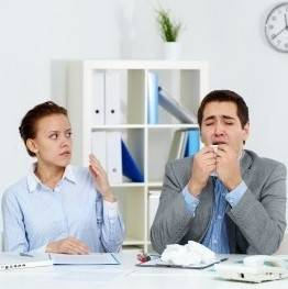 Presenteeism culture in the US means sick staff spread colds and virus at work