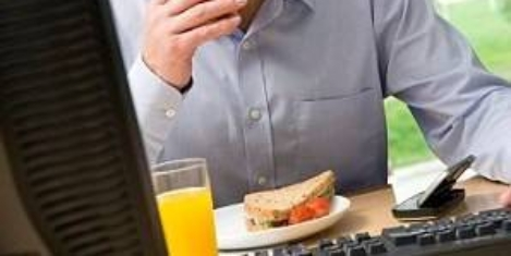 Business leaders routinely work through lunch to tackle productivity gap
