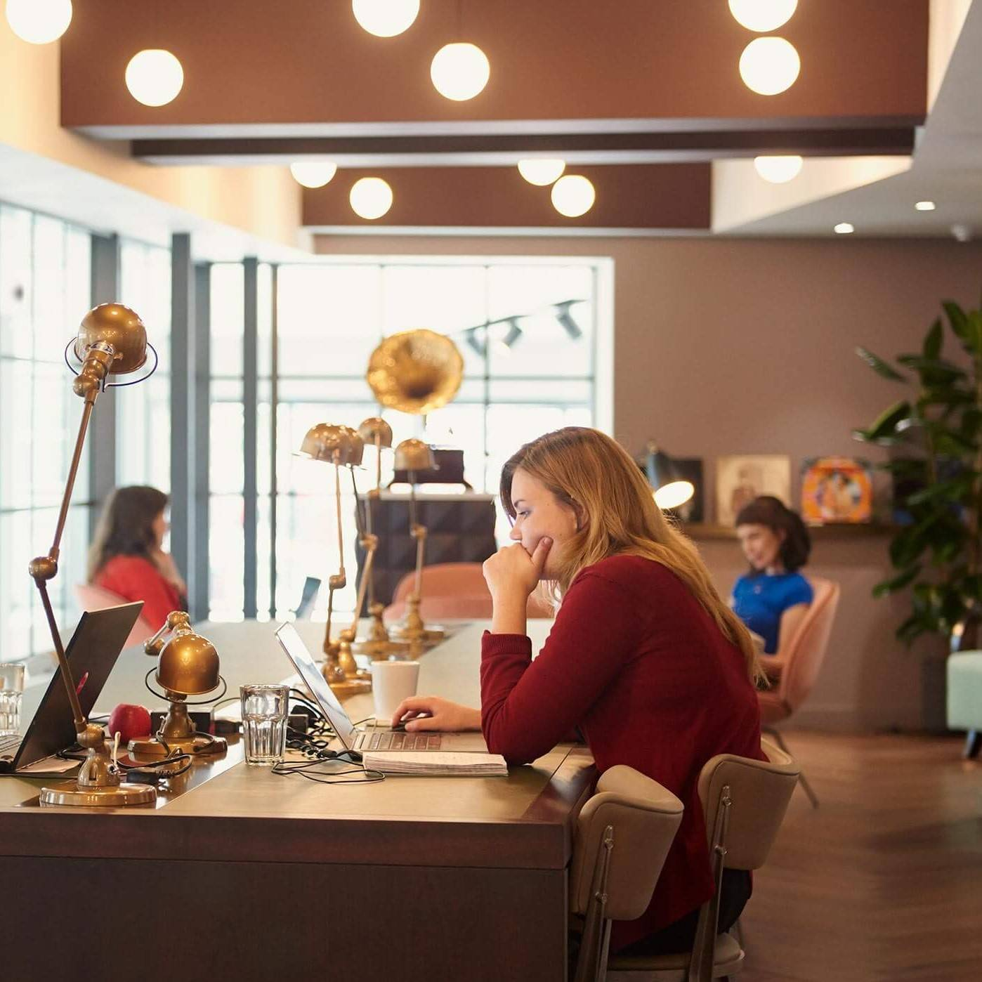 People who work in coworking spaces believe they are more productive