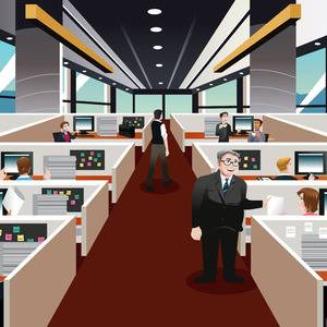 Nearly half of employees still assigned to same place as the traditional office clings on