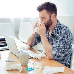 Presenteeism problem within the workplace as two thirds report for work when ill