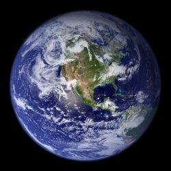 The Earth from space, illustrating how fragile the planet is in the face of climate change