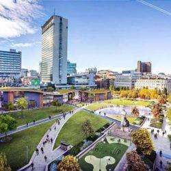 streetview of Manchester, Piccadilly Gardens