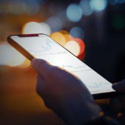 smartphone with procurement app