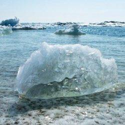 Melting ice showing climate change