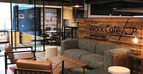 Santander reopens closed branch as coworking space