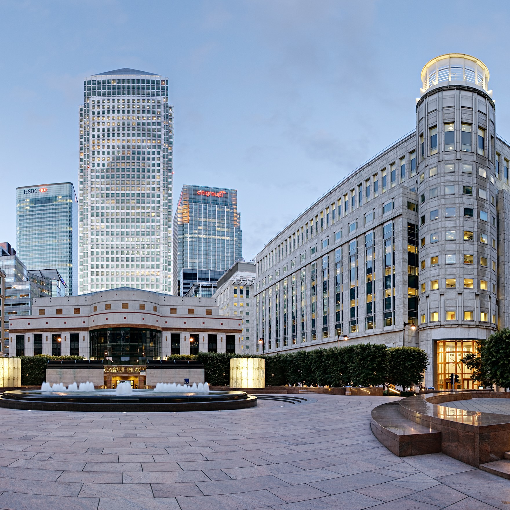 Canary Wharf, home of the UK financial services sector