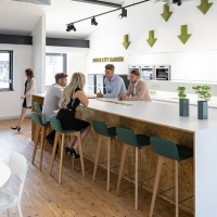 Great office design depends on the trinity of comfort, WiFi and coffee