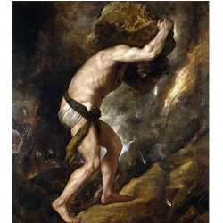 The burden of work, Sisyphus by Titian