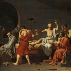 A painting of Socrates to depict the ways we have discussions about the workplace