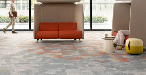 DESSO Serene and Serene Colour carpet tiles for offices that people want to return to